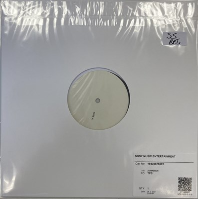 """Lot 55 - JAMIROQUAI - EVERYBODY'S GOING TO THE MOON/DEEPER UNDERGROUND 12"""" (2021 RSD WHITE LABEL TEST PRESSING)"""