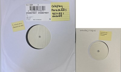 """Lot 59 - COLDPLAY - PARACHUTES LP/CHRISTMAS LIGHTS 7"""" (WHITE LABEL TEST PRESSINGS)"""