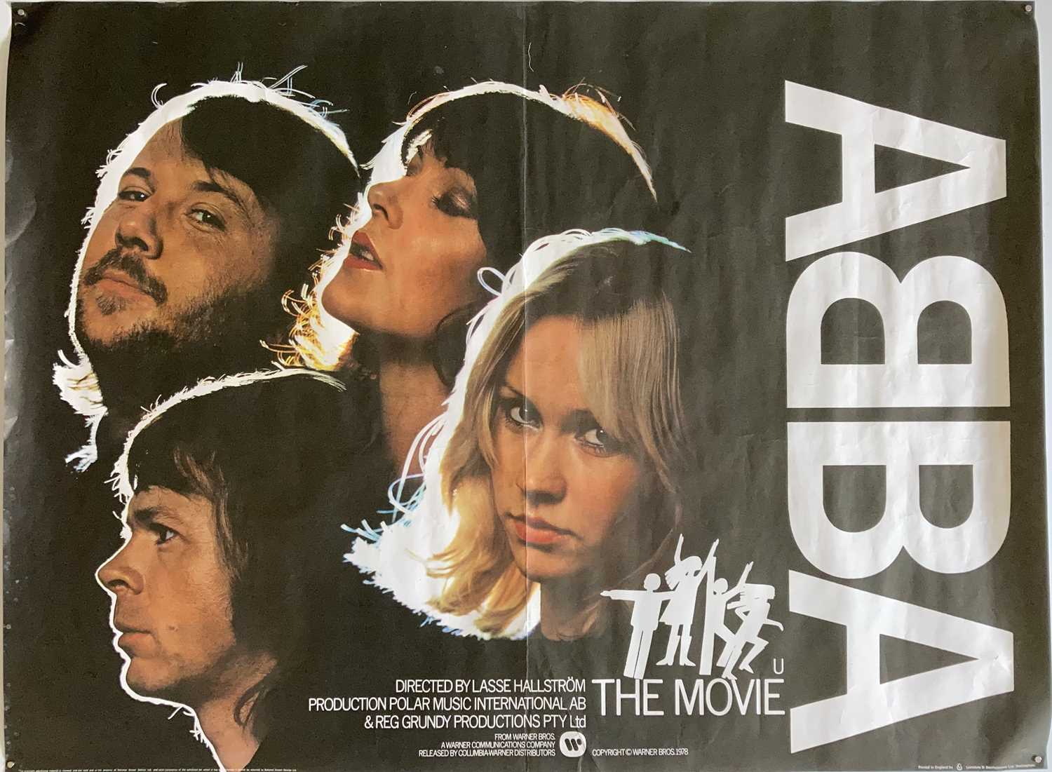 Lot 27 - ABBA FILM POSTER.