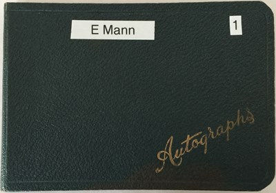 Lot 75 - AUTOGRAPH BOOK WITH STARS OF STAGE AND SCREEN - RICHARD BURTON / JON PERTWEE AND MORE.