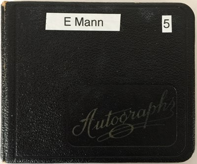 Lot 79 - AUTOGRAPH BOOK WITH STARS OF STAGE AND SCREEN - ERROL FLYNN / LONNIE DONEGAN AND MORE.