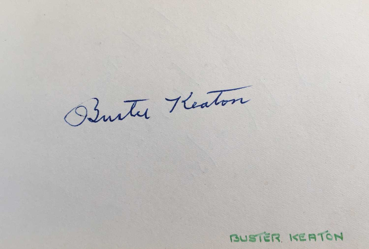 Lot 83 - BUSTER KEATON SIGNED PAGE.