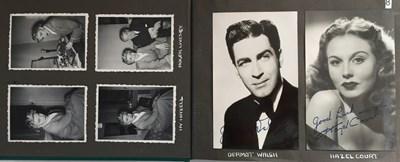 Lot 99 - ALBUM WITH AUTOGRAPHED PHOTOS/POSTCARDS - PETER SELLERS / MARLENE DIETRICH ETC.