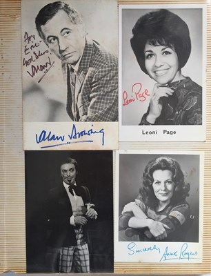 Lot 108 - ALBUM WITH AUTOGRAPHED PHOTOS / POSTCARDS - STARS OF THE 1950S.