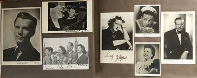 Lot 111 - ALBUM WITH AUTOGRAPHS AND PRIVATE AND UNSEEN PHOTOS OF STARS OF THE 1950S.