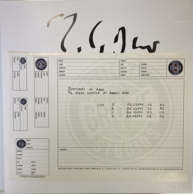 Lot 109 - MARK KNOPFLER SIGNED WHITE LABEL TEST PRESSING.