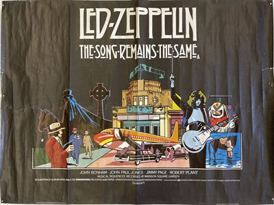 Lot 151 - LED ZEPPELIN - SONG REMAINS THE SAME ORIGINAL POSTER.