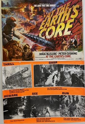 Lot 157 - AT THE EARTH'S CORE / SCI FI ORIGINAL FILM POSTERS.