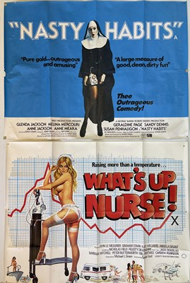 Lot 158 - WHAT'S UP NURSE / NASTY HABITS FILM POSTERS.