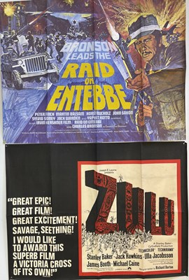 Lot 159 - CLASSIC FILMS - UK QUAD POSTERS  - ZULU AND MORE.