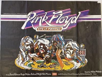 Lot 160 - PINK FLOYD LIVE AT POMPEII UK QUAD POSTER.