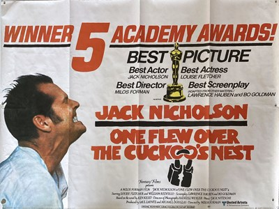 Lot 165 - ONE FLEW OVER THE CUCKOO'S NEST UK QUAD.