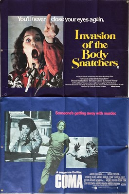 Lot 168 - UK QUAD POSTERS - INVASION OF THE BODY SNATCHERS AND MORE.
