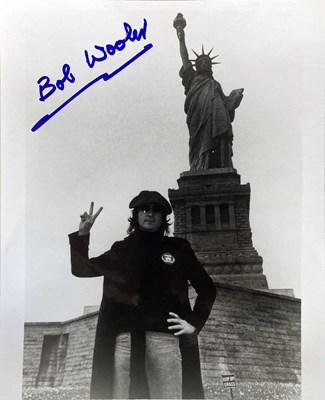 Lot 304 - THE BEATLES - ALLAN WILLIAMS / ALF BICKNELL SIGNED PHOTOGRAPH.