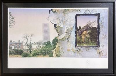 Lot 505 - JIMMY PAGE SIGNED LED ZEPPELIN ARTWORK.