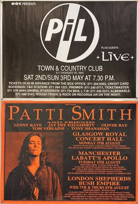 Lot 189 - PIL / PATTI SMITH CONCERT POSTERS.