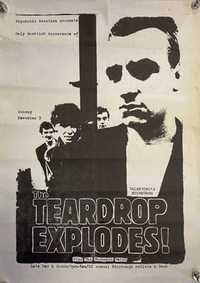 Lot 214 - TEARDROP EXPLODES 1980 EDINBURGH POSTER.